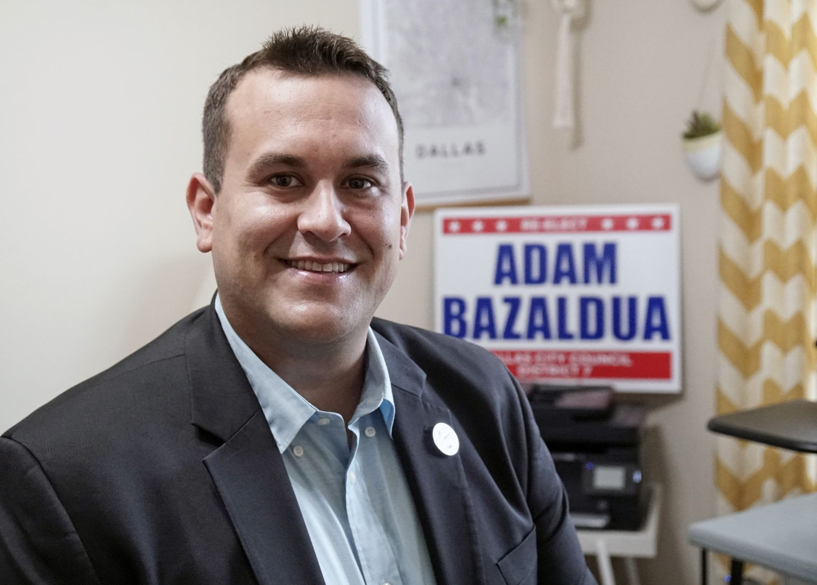 District 7 council member Adam Bazaldua at his home in Dallas on May 20, 2021.