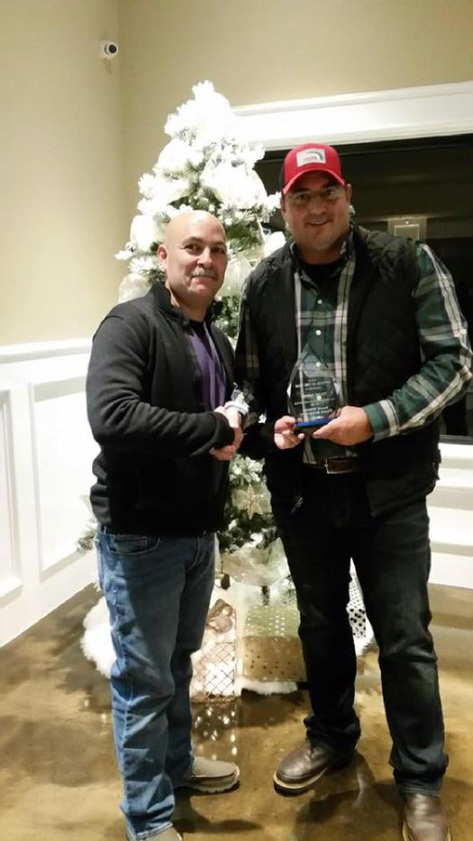 Balch Springs Officer Tyler Gross (right) with Police Chief Jonathan Haber. Gross was the 2016 Balch Springs officer of the year. Gross was with now-fired Officer Roy Oliver the night Oliver shot and killed Jordan Edwards, 15.
