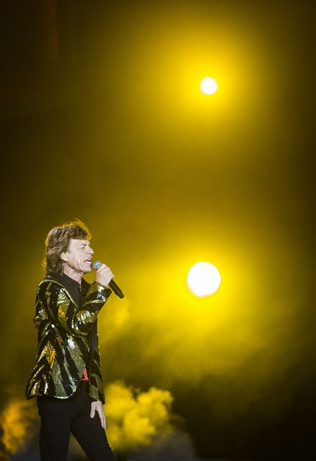 Mick Jagger and the Rolling Stones performed at AT&T Stadium on Saturday, June 6, 2015, in Arlington as part of their Zip Code Tour of North America.
