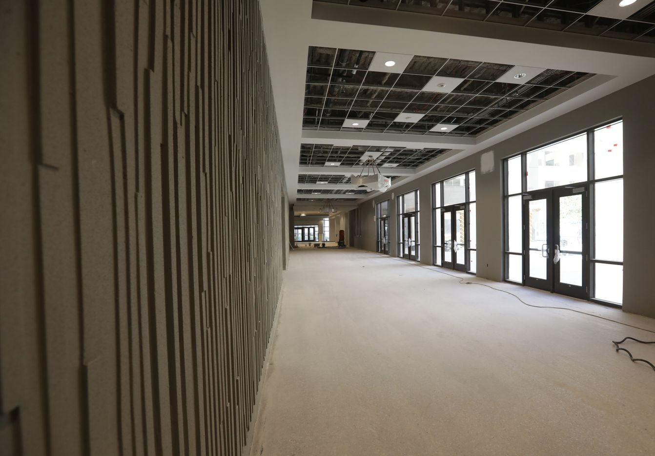 The new Allen convention center will open in January.