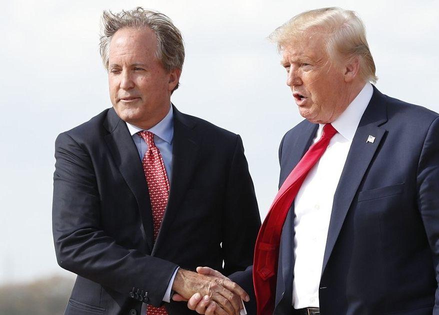 Texas attorney general Ken Paxton says 'overthrow' put Joe Biden in White House instead of Trump