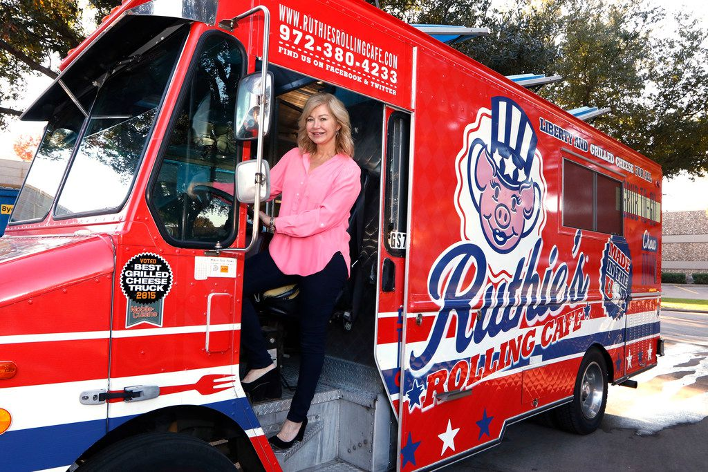 Ashlee Kleinert, daughter of Dallas billionaire Ray Hunt, poses for a portrait on one of the three food trucks she owns on Thursday, November 30, 2017 in Addison, Texas. She owns Ruthie's Rolling Cafe, serving gourmet grilled cheese sandwiches inspired by those made by her grandmother, Ruth Ray Hunt.