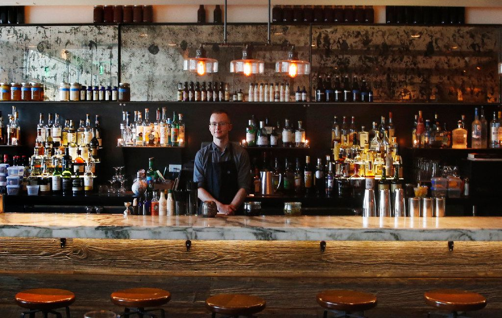 Bartender Dylan Huddle's cocktails are among the city's most thoughtful and compelling.  (Tailyr Irvine/The Dallas Morning News)