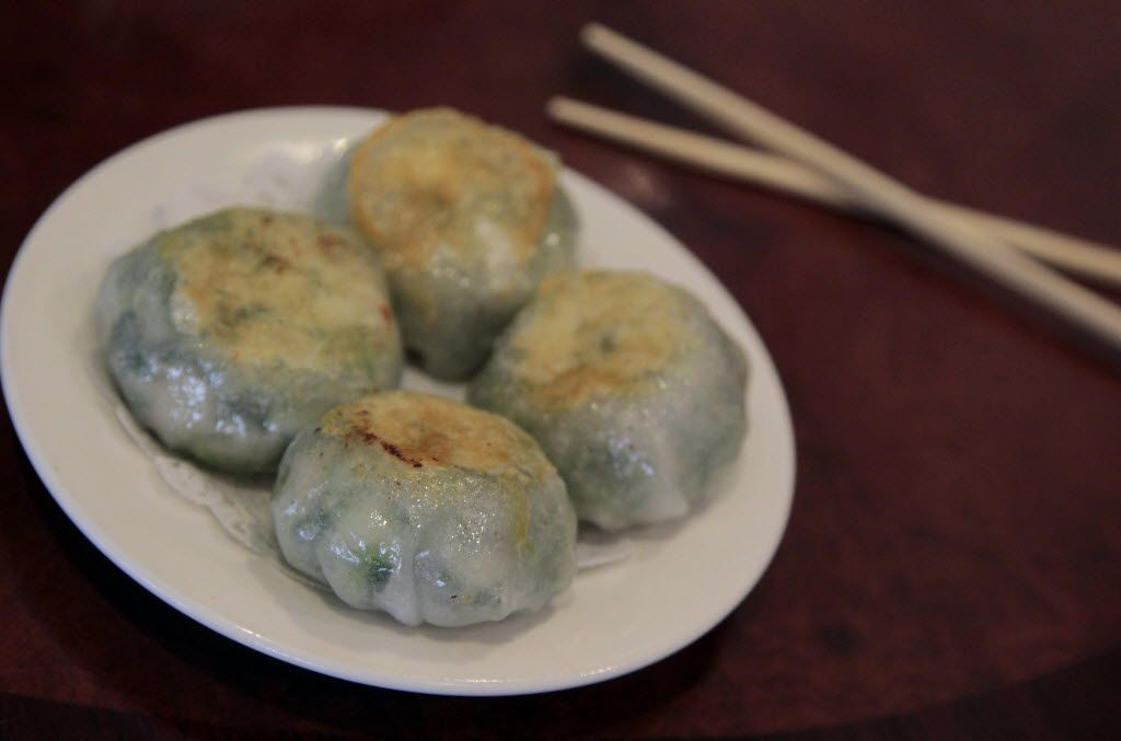 Pan-fried shrimp and chive dumplings: These are all about the filling. They should be carefully pan-fried, not too oily, and should come to the table hot enough.