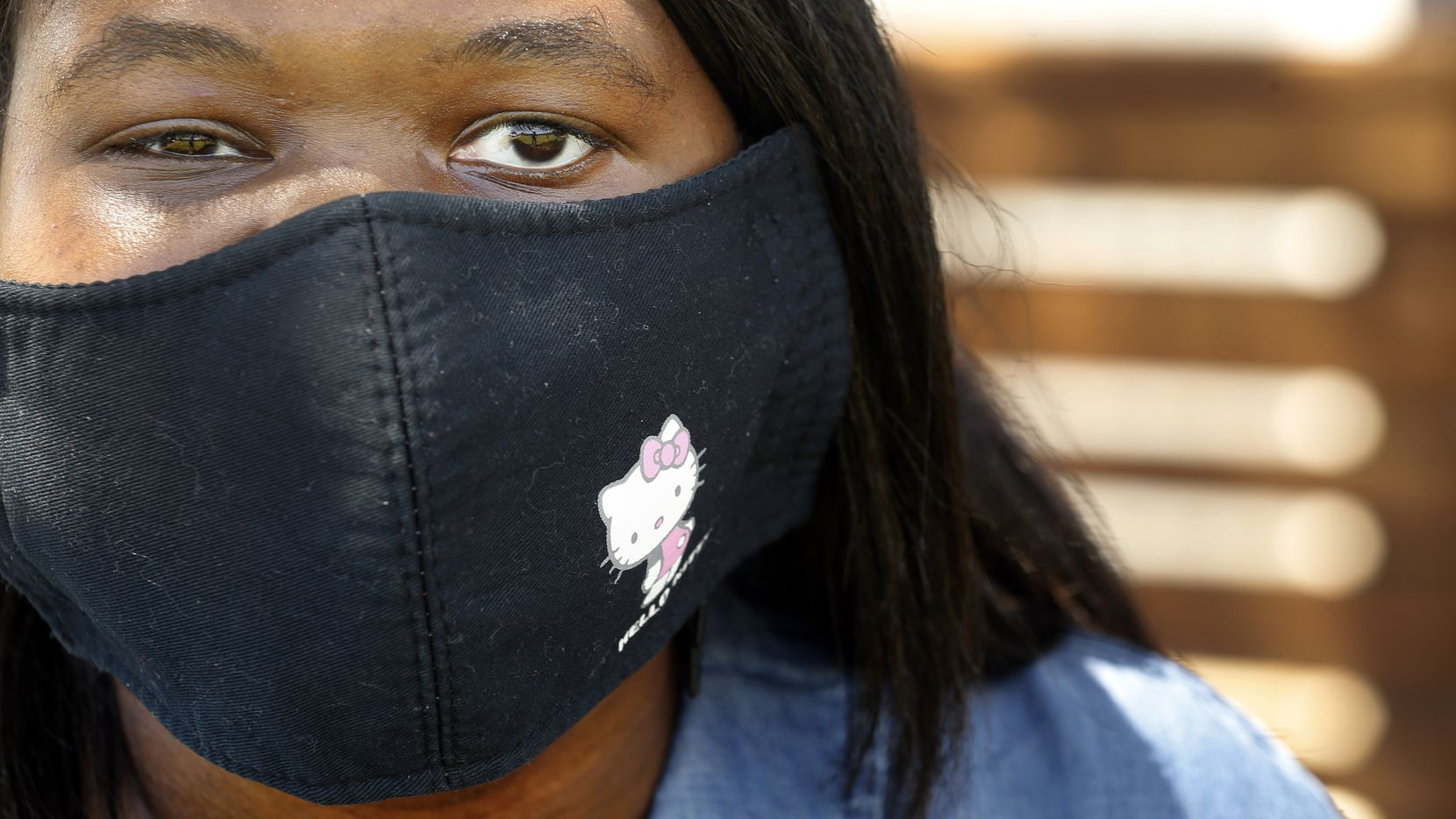 Hello Kitty is a favorite of Kiara Hearn's, so she bought a face mask with her on it. Hearn and her mother, Rhonda Hinton, of Irving were both diagnosed with COVID-19, the illness caused by the coronavirus. Hinton experienced only minor symptoms, but Hearn, who has lupus, spent more than a week at Parkland Memorial Hospital.
