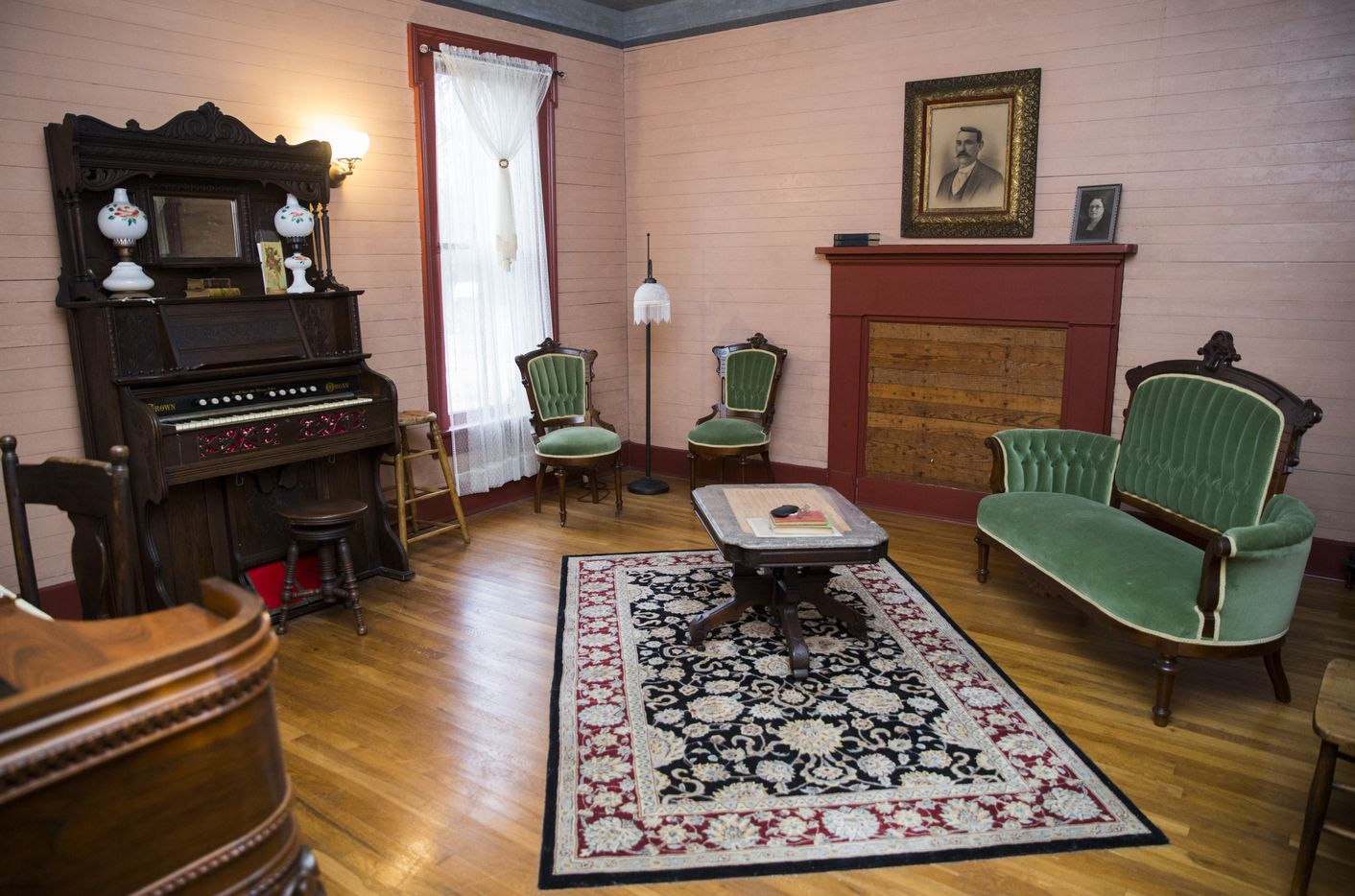The music room inside the Lawrence Home was part of a large addition to the house in the 1880s. Toyia Pointer says that historic spaces like this one spark visitors to begin talking about their own family stories.