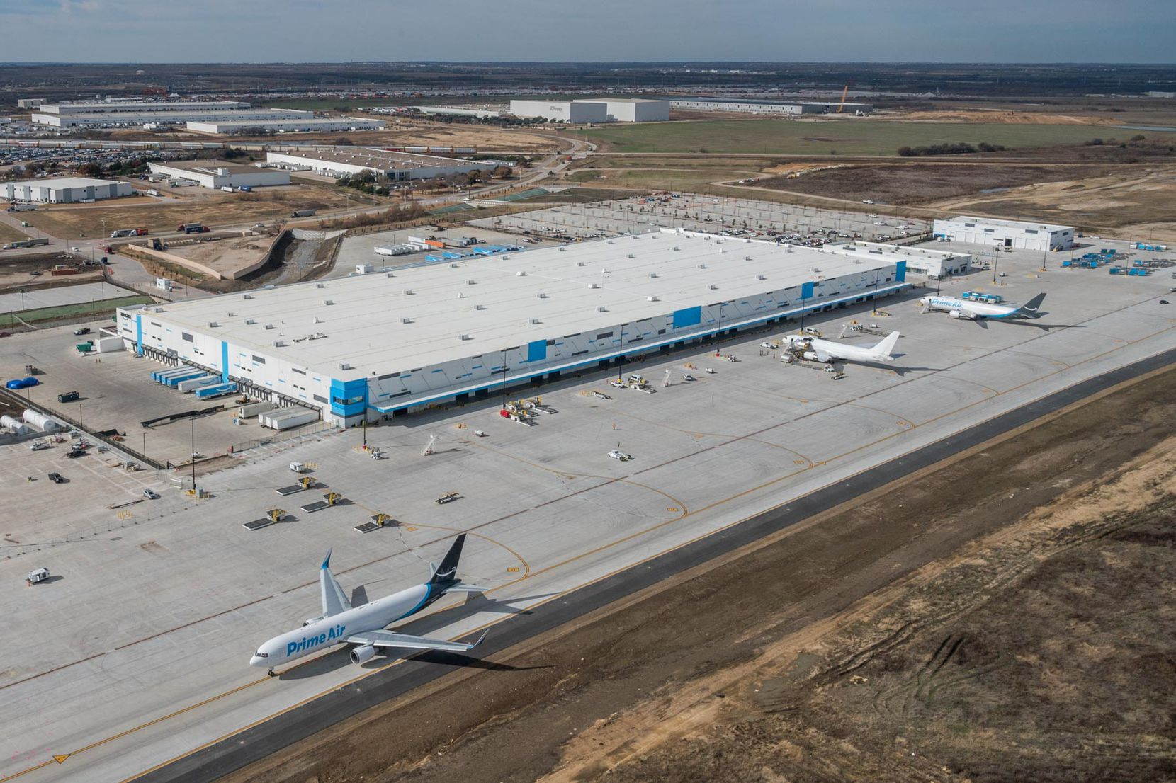 Amazon's new air shipping hub is one of the new distribution projects in AllianceTexas.