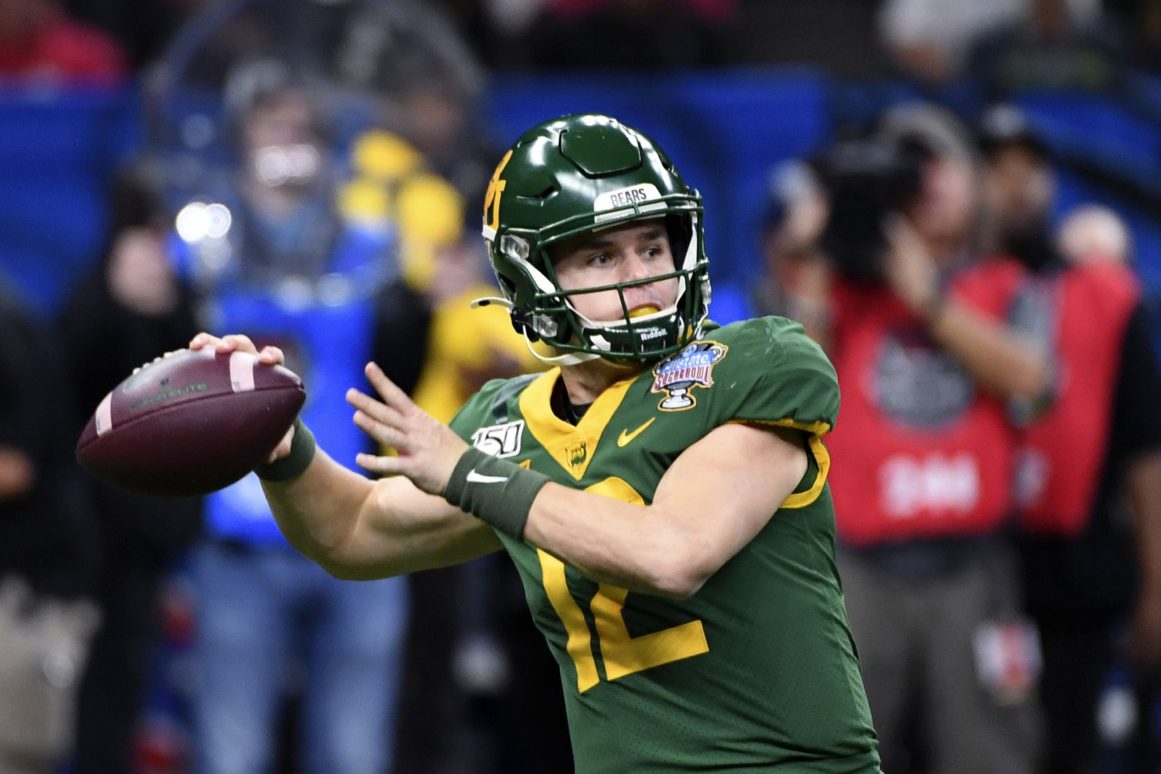 Baylor quarterback Charlie Brewer (12) passes in the first half of the Sugar Bowl NCAA college football game in New Orleans, Wednesday, Jan. 1, 2020.