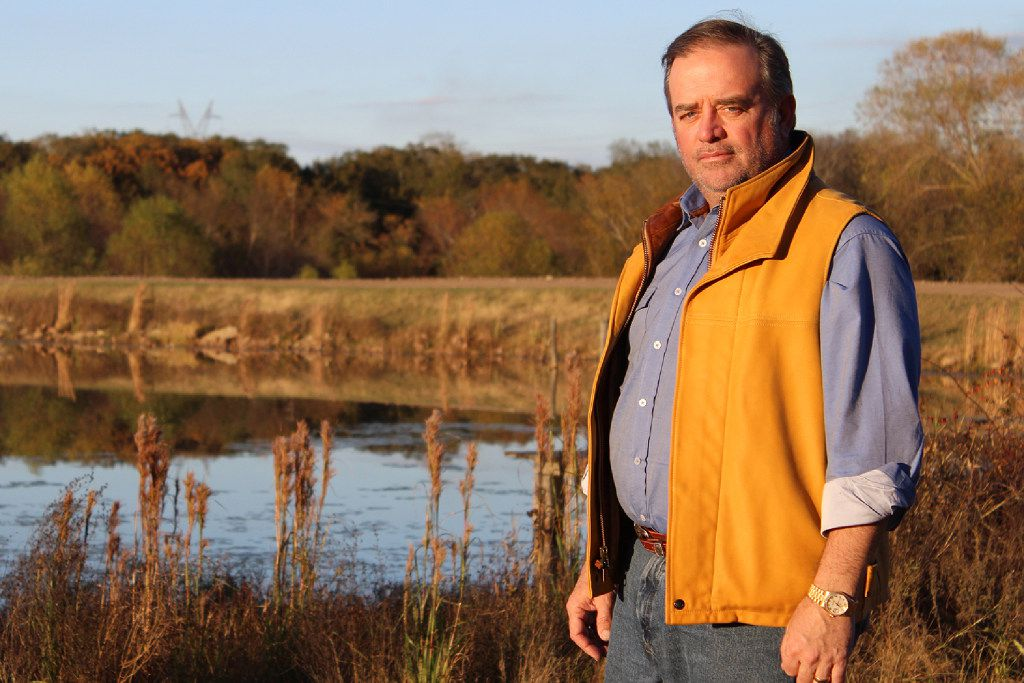 Dallas attorney Blake Beckham bought hundreds of acres of land in Limestone County that used to be a fishing club. He says if a high-speed train comes through, it will be a few hundred feet from the lake on the property and will ruin the serenity of the land.