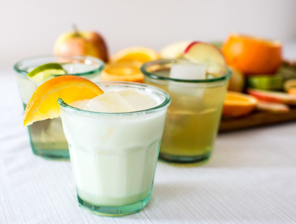 Soda trio: Vanilla Lime, Orange Cream Soda and Rosemary Apple.