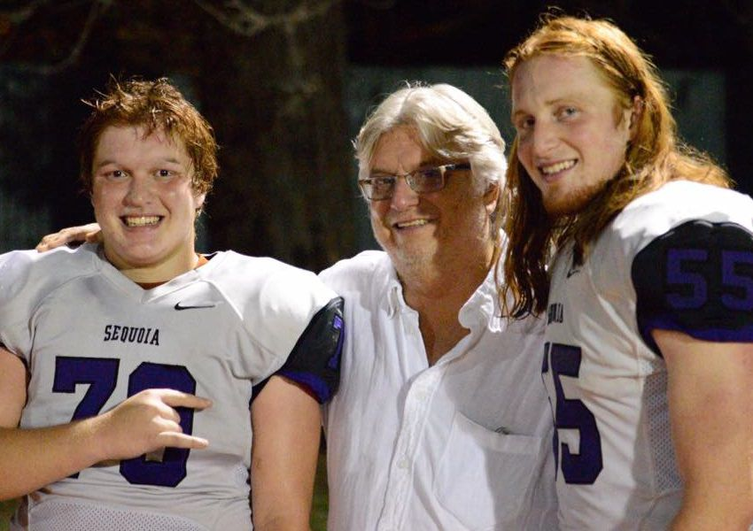 Sam Fraley (right) with his brother Tyson and father Gerry, longtime sportswriter at The Dallas Morning News