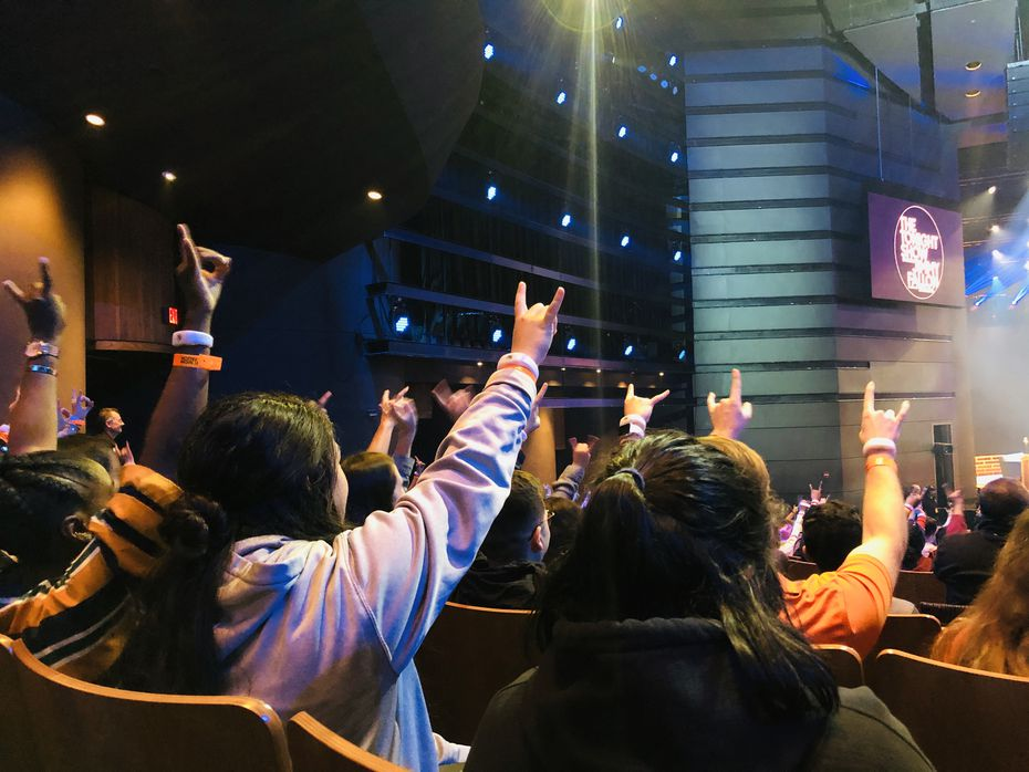 About 3,000 University of Texas at Austin students were given free tickets to watch a taping of 'The Tonight Show Starring Jimmy Fallon' on campus on Nov. 7, 2019. It was Fallon's first live show at a university.