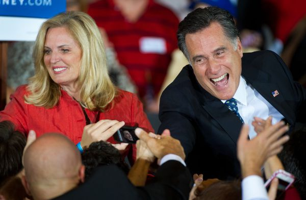 Mitt Romney and his wife, Ann