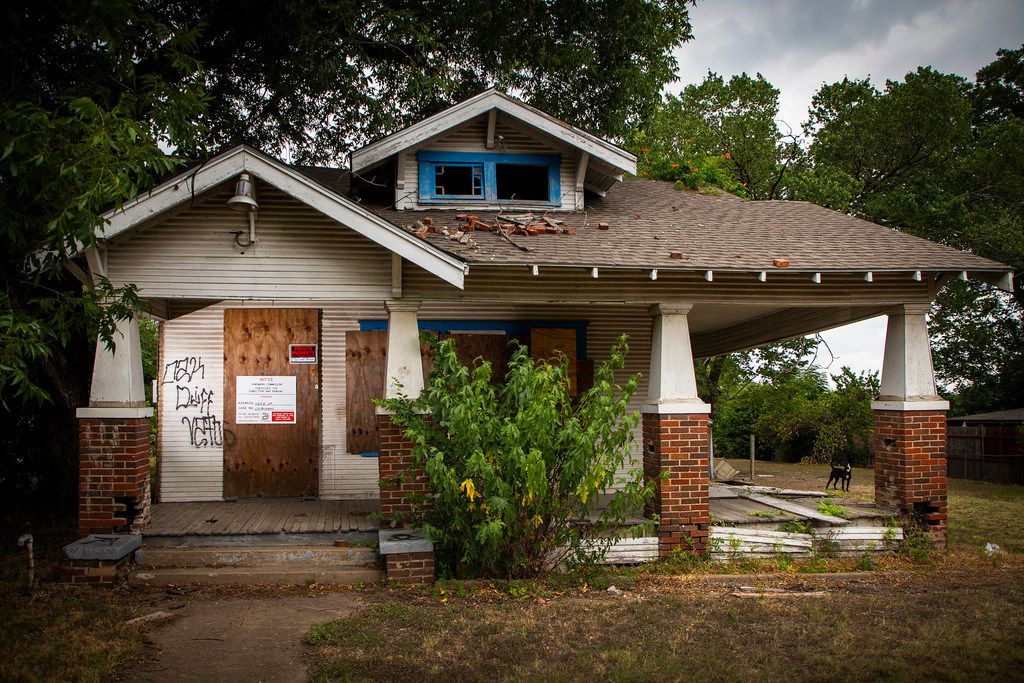 This house at 1107 E. 11th St. in the Tenth Street Historic District will be razed before the end of August.