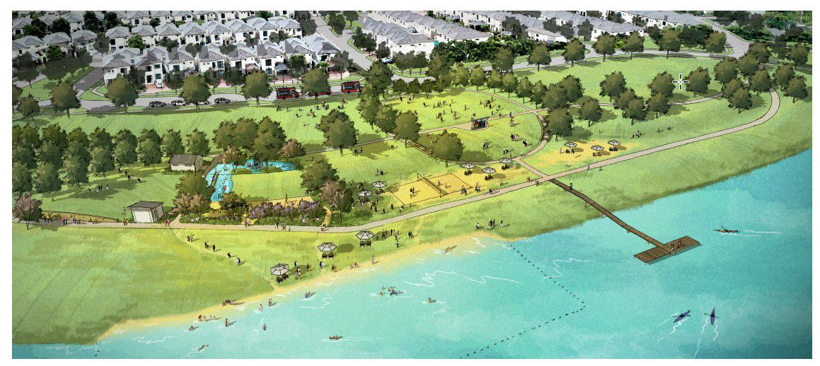 The new Walsh phase will include a nine-acre lake.