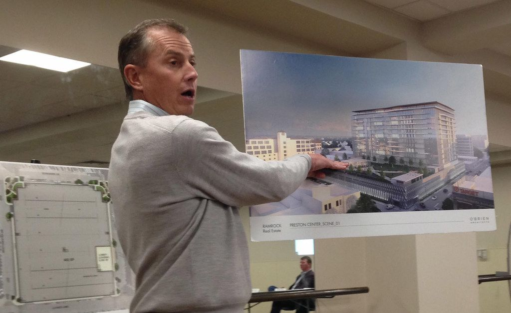 On Jan. 31, 2019, Preston Center land owner and developer Robert Dozier unveiled plans to build a parking garage, park and 300 apartments in Preston Center. An aging parking garage is there now, and a task force in 2016 recommended replacing it with a buried garage and a ground-level park.