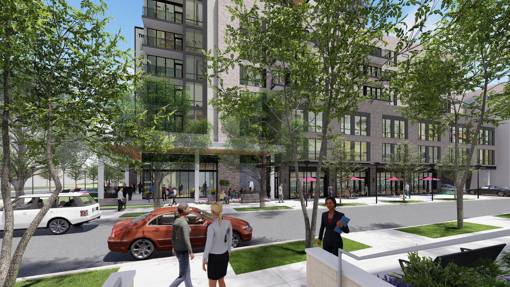 The apartment tower would be built on the site of two office buildings at Fairmount and Carlisle streets.
