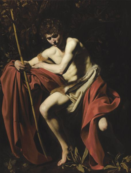 Saint John the Baptist in the Wilderness, 1604-5, oil on canvas by Caravaggio
