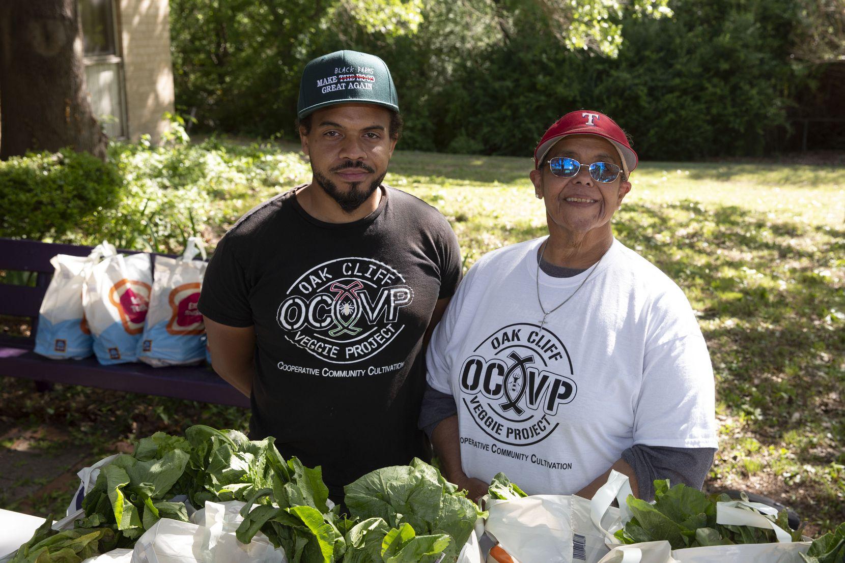 Ples Montgomery and mother Bettie Montgomery of non-profit Oak Cliff Veggie Project