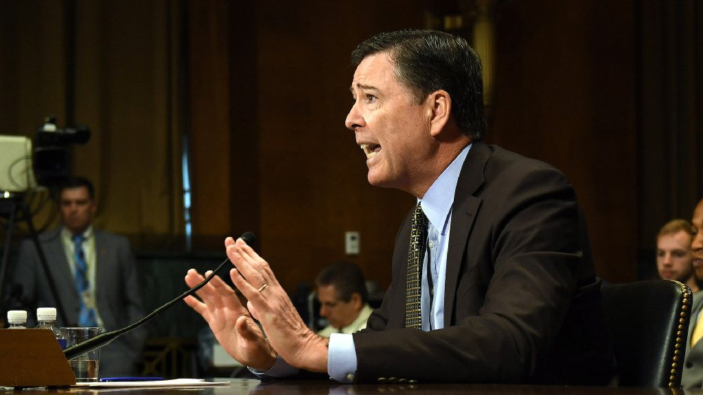 FBI Director James Comey, above testifying before the Senate Judiciary Committee on May 3, has been dismissed by President Donald Trump. Must credit: Washington Post photo by Matt McClain