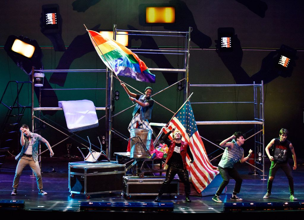 Actors perform during an opening scene at a dress rehearsal for Green Day's American Idiot, directed by Valerie Hauss-Smith, at the Moody Performance Hall in Dallas, Dec. 30, 2018. Ben Torres/Special Contributor