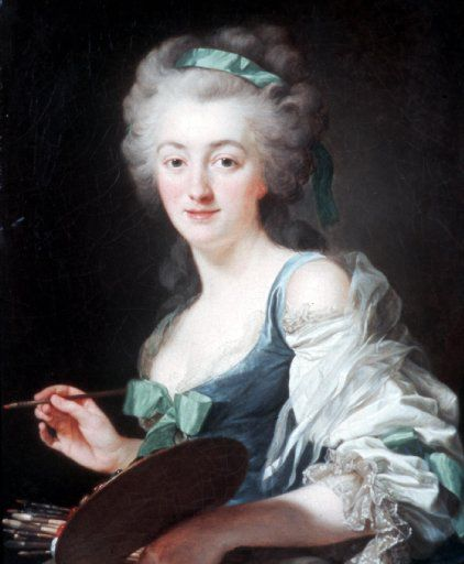 Undated, Alexander Roslin, Portrait of Anne Vallayer-Coster, n.d.; Oil on canvas.