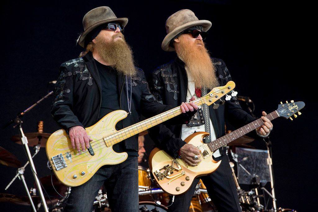 ZZ Top will play in Lewisville at Texas Pop Turns 50. Here, Dusty Hill, left, and Billy Gibbons perform at the 2016 Glastonbury music festival at Worthy Farm, in Somerset, England.