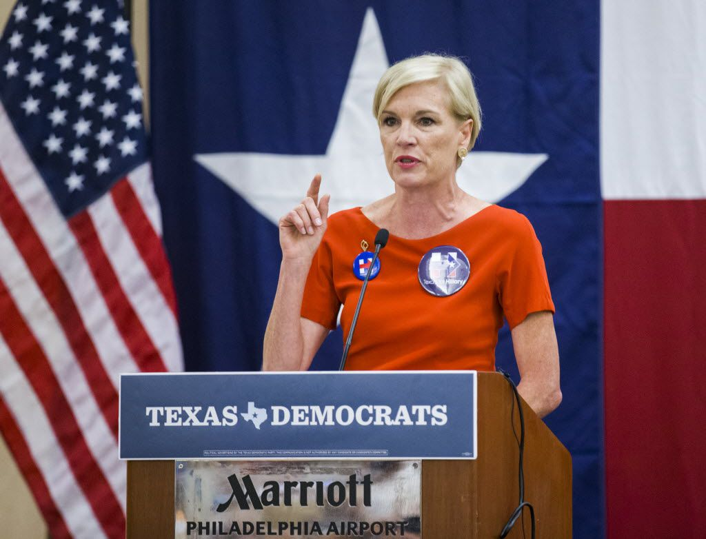 Planned Parenthood President Cecile Richards speaks during the Texas delegation breakfast before day two of the Democratic National Convention on Tuesday, July 26, 2016 at the Philadelphia Airport Marriott in Philadelphia, Pennsylvania.