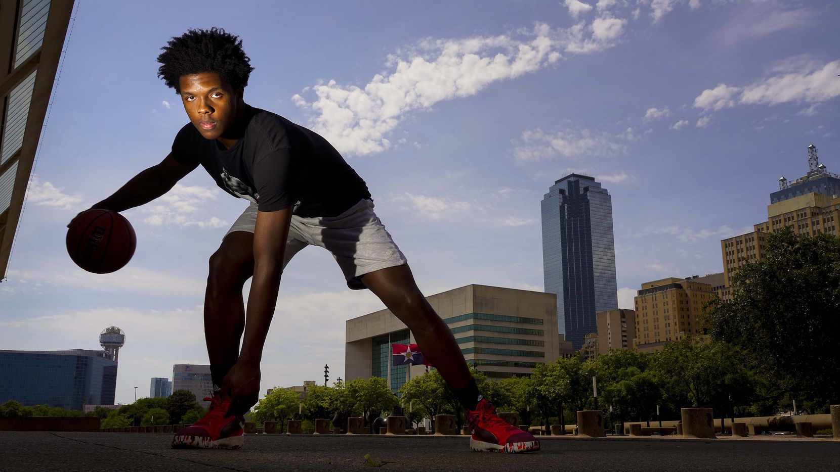 St. Mark's basketball player Harrison Ingram photographed on April 27, 2020 in Dallas.
