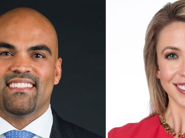 Rep. Colin Allred, left, D-Dallas, is defending the District 32 seat in Congress against Republican Genevieve Collins, right, of Dallas. Photo by Ashley Landis/The Dallas Morning News) and Glen Ellman