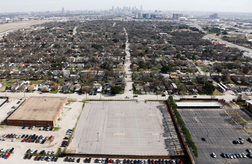 The city leases an empty parking lot in the 2200 block of Burbank Street in Dallas near Dallas Love Field.