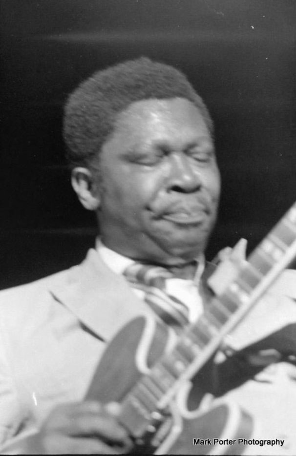 B.B. King performs at the Texas International Pop Festival, held on Labor Day weekend, 1969, at the Dallas International Speedway in Lewisville, Texas.