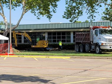 The Environmental Protection Agency began excavating and remediating contaminated soil outside Park Crest Elementary on Saturday, September 4, 2021.