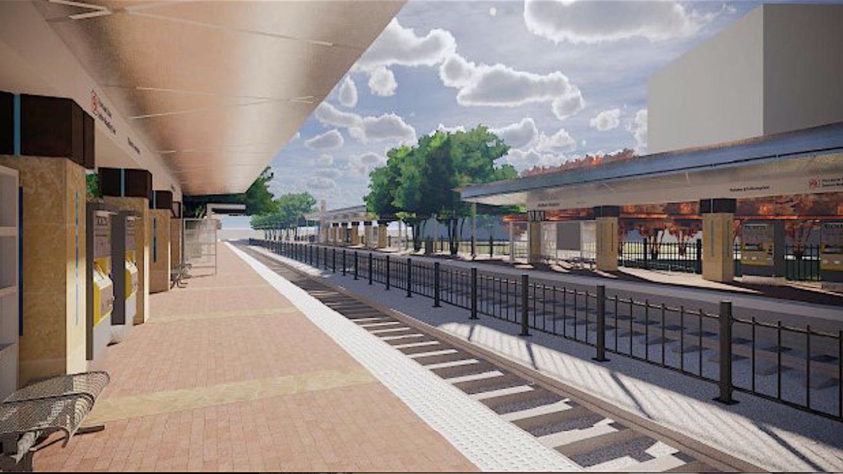 An architect's rendering of the Silver Line Addison station.