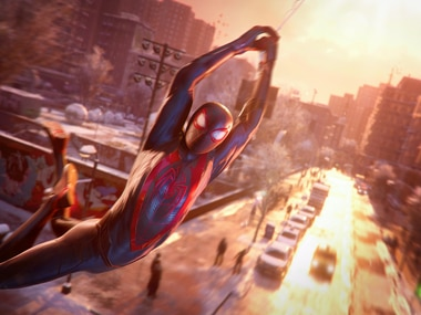 "A screenshot from ""Marvel's Spider-Man: Miles Morales"" on the PlayStation 5."