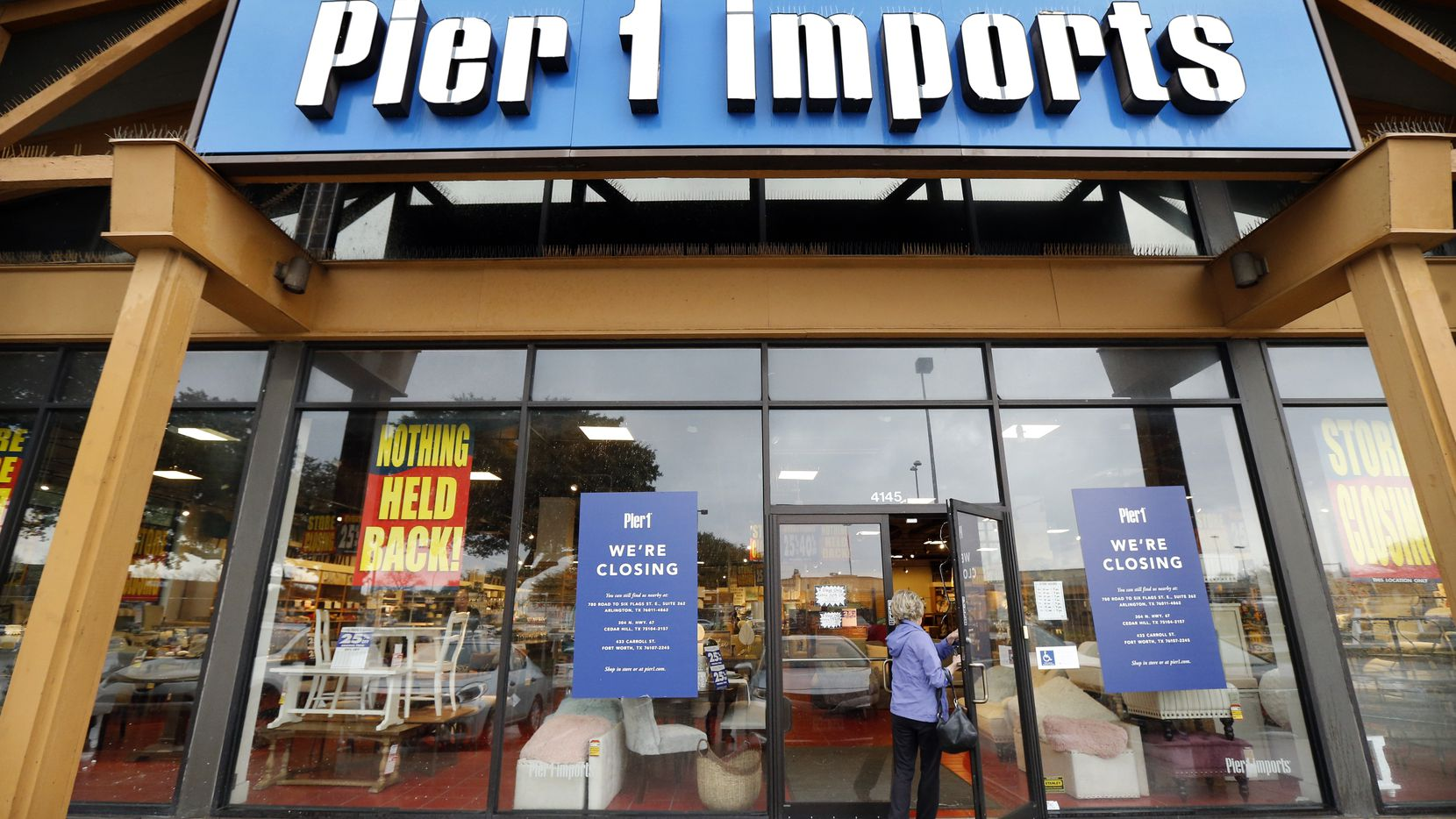 Fort Worth-based Pier 1 Imports plans to liquidate its operations this summer. This store on the Dallas North Tollway just north of Galleria Dallas is its biggest among it 900 stores.
