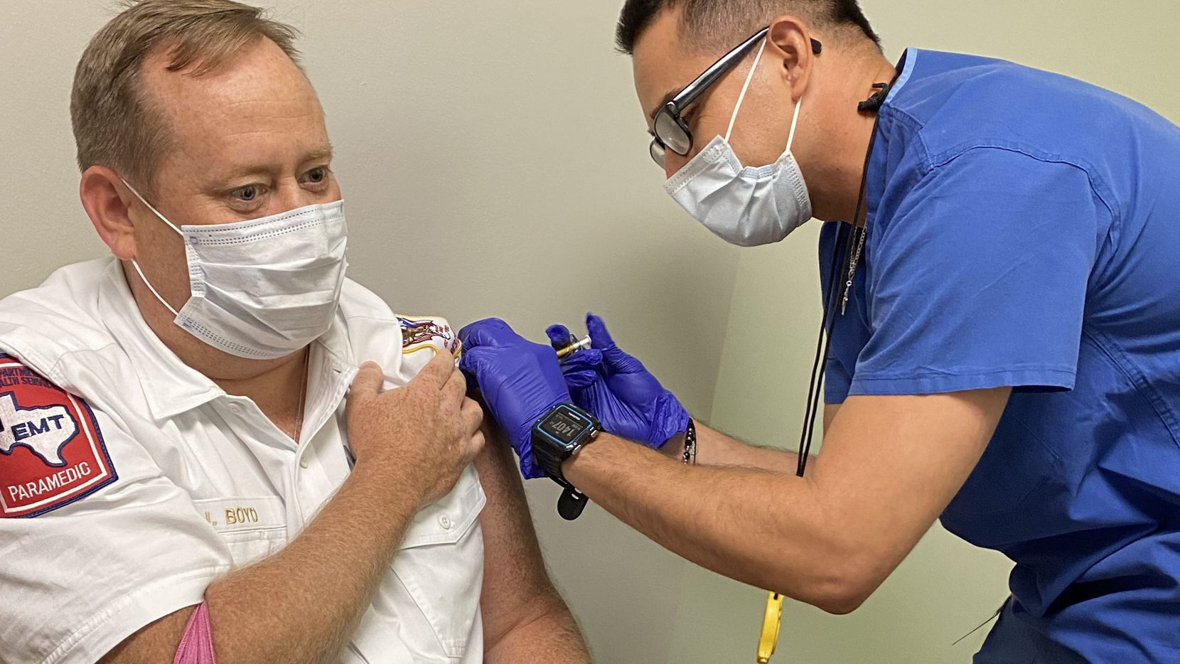 Allen Fire Chief Jonathan Boyd has volunteered for a COVID-19 vaccine study.