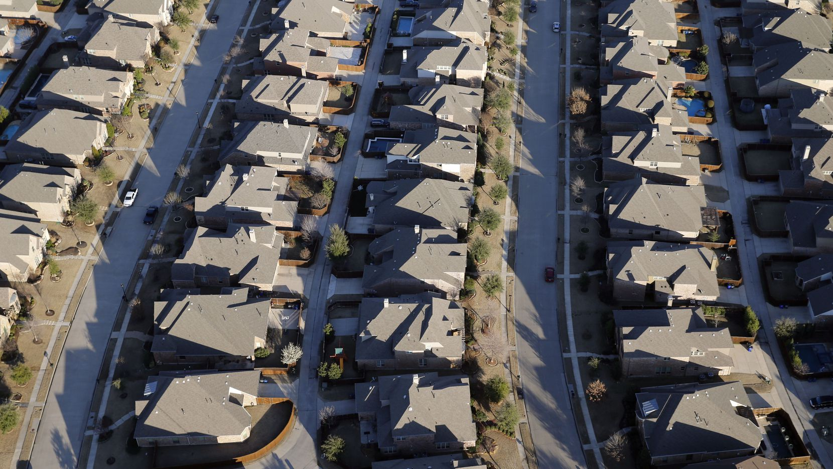 Aerial view of homes in Allen.