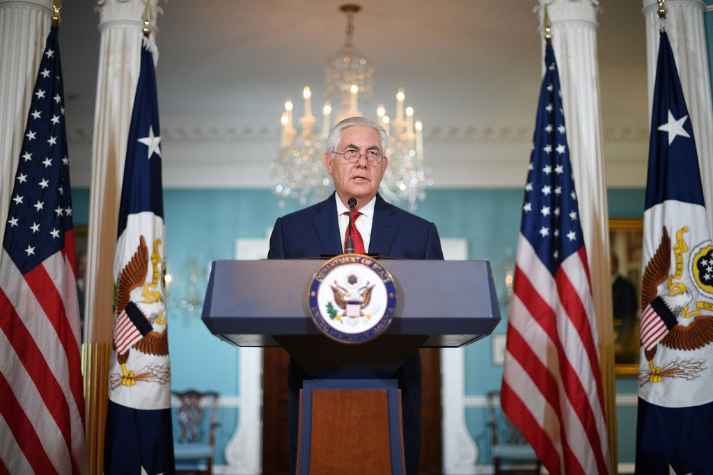 "Secretary of State Rex Tillerson denied Wednesday he had considered resigning from Donald Trump's cabinet and dismissed a report that he had called the president a ""moron"" as ""petty nonsense."" ""The vice president has never had to persuade me to remain as secretary of state because I have never considered leaving this post,"" Tillerson said, denying an NBC News report."