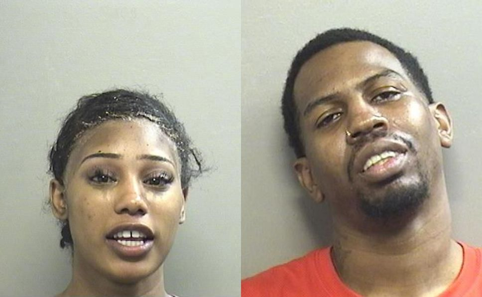 Jalissa Hallcy (left) of Arlington and Richard Phillips of Grand Prairie were arrested on two separate counts of DWI. The two are a couple, and Phillips was arrested after tracking Hallcy's phone to the Arlington Police Department Jail.