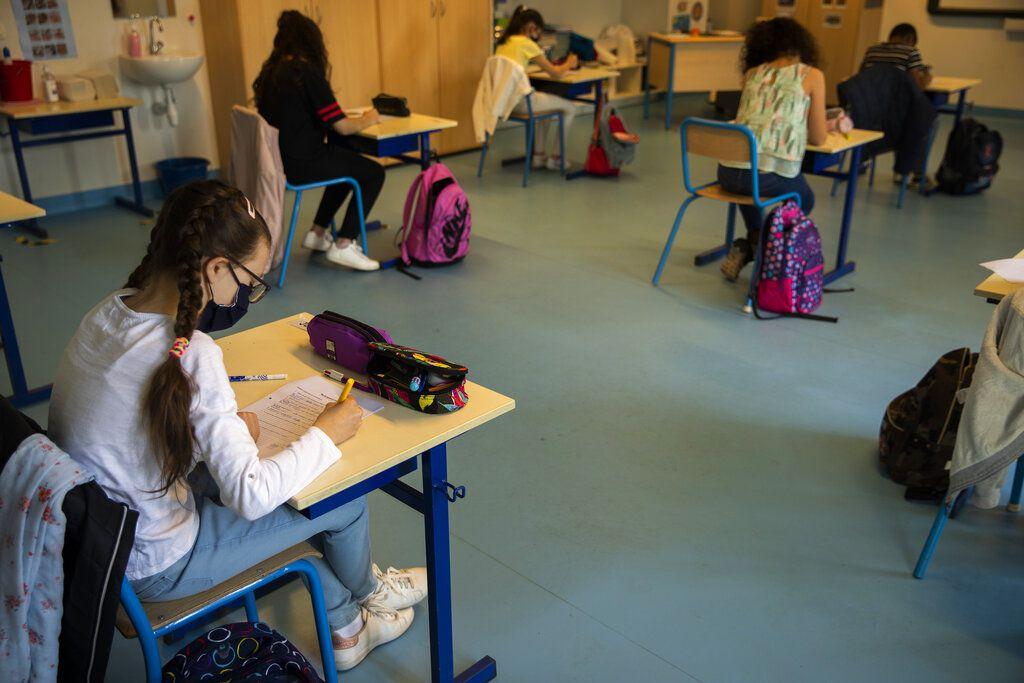 Una escuela en Bruselas el 18 de mayo del 2020.