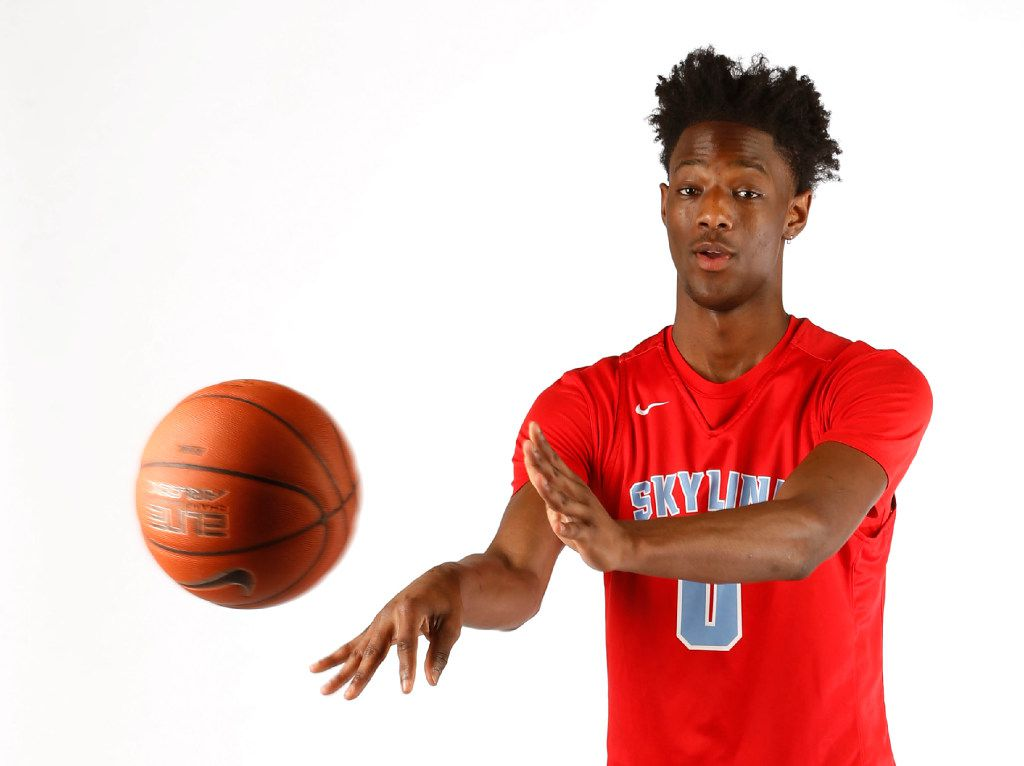 Skyline's Marcus Garrett poses for a portrait in the The Dallas Morning News studio in Dallas on Saturday, March 18, 2017. Garrett is the high school boys all-area basketball player of the year. (Vernon Bryant/The Dallas Morning News)