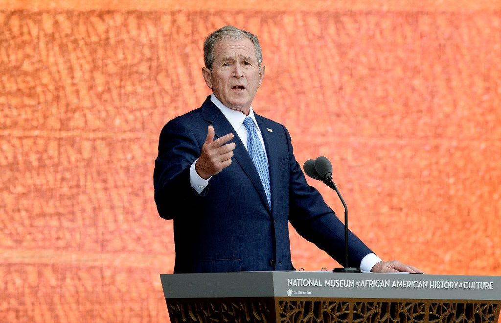 Former President George W. Bush hasn't declared who will win his vote for president in November.