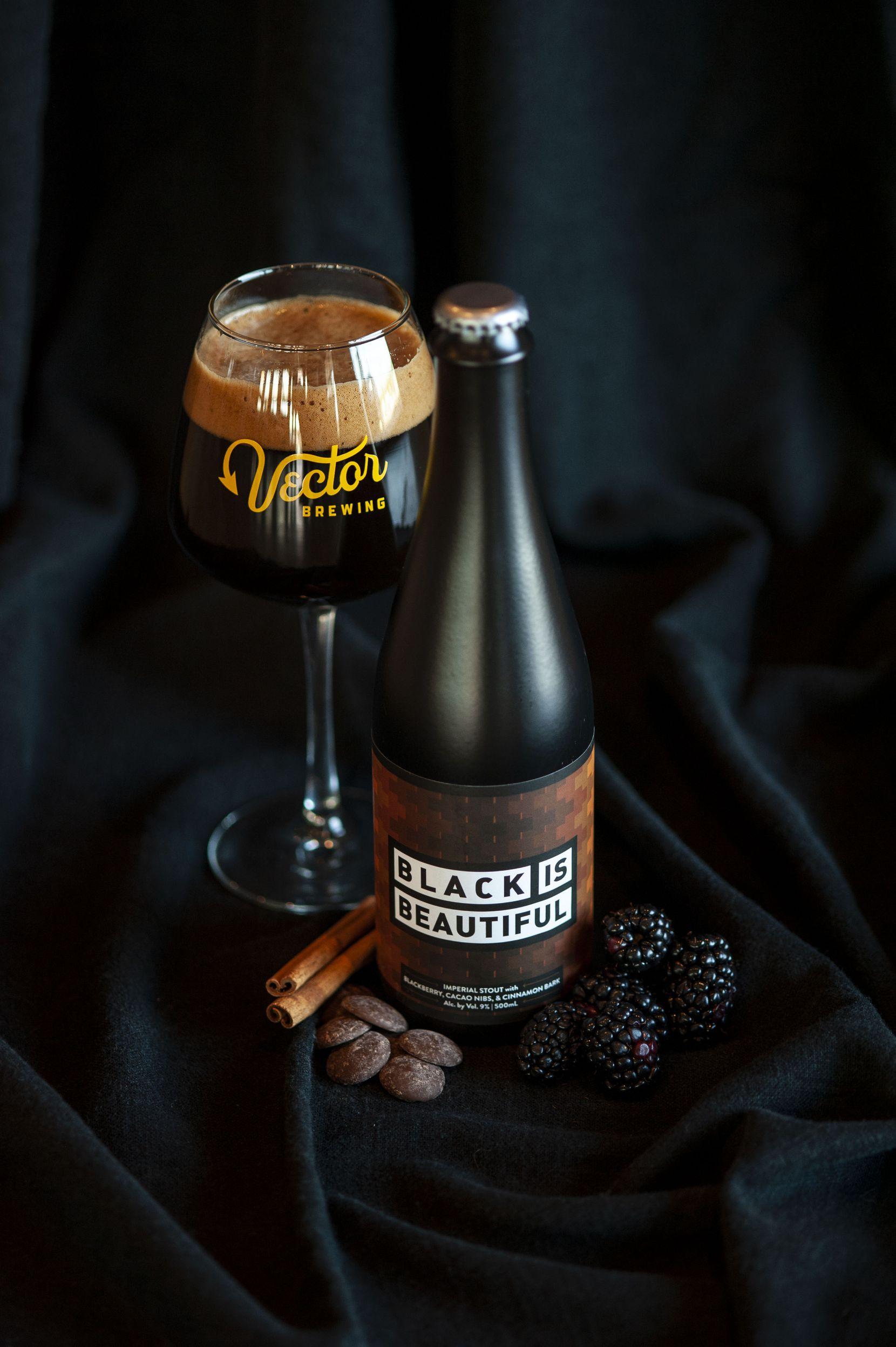 Black is Beautiful beer at Vector Brewing