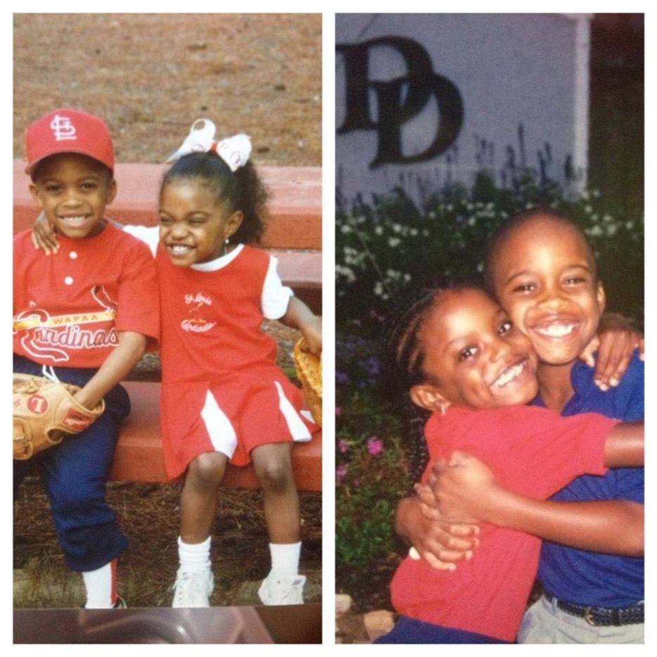 Texas Rangers centerfielder Delino DeShields Jr. and sister Diamond DeShields Jr., who is a professional basketball player for the Chicago Sky (Courtesy/Tisha DeShields) ORG XMIT: PgQnw_PKnXeuq_vHoFsn