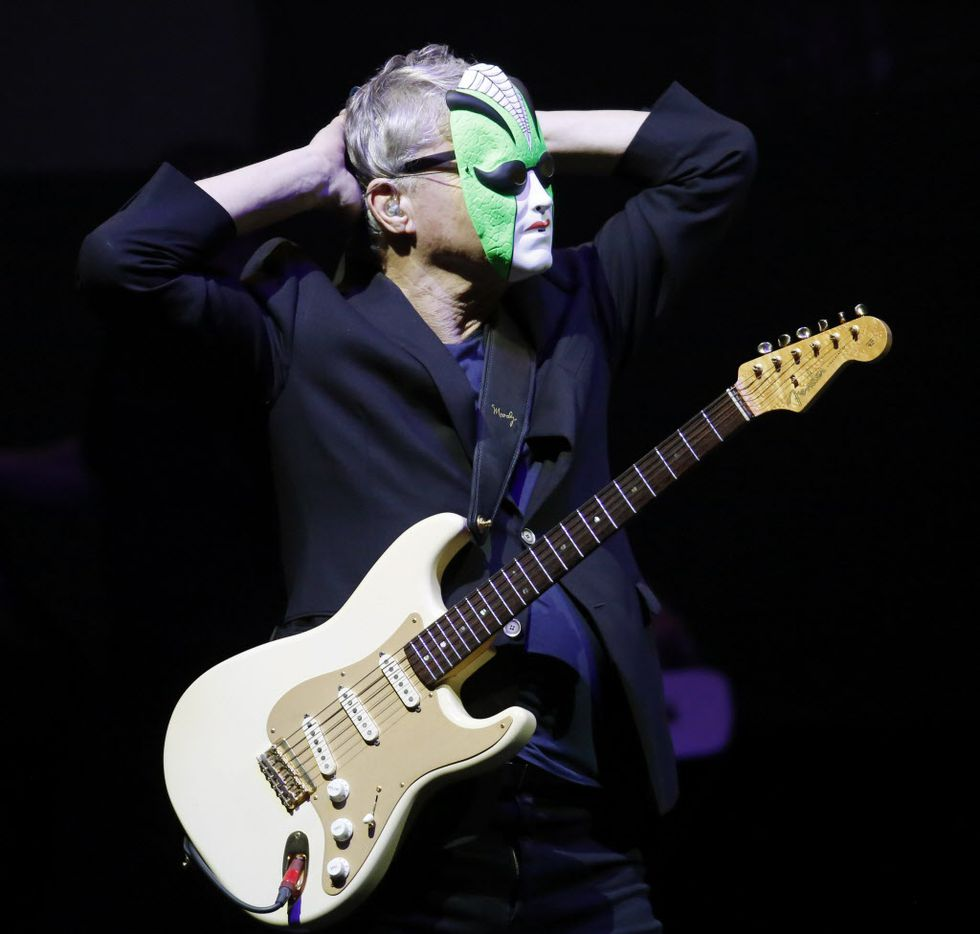 "Steve Miller wore his joker mask before he performed '""The Joker"": at Verizon Theatre on Monday."
