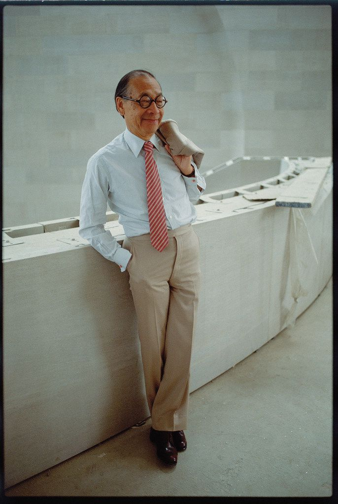 Architect I.M. is pictured inside the Morton H. Meyerson Symphony Center he designed in 1989.