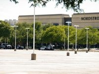 Police officers guard the NorthPark shopping center after reports of a possible protest there last weekend.