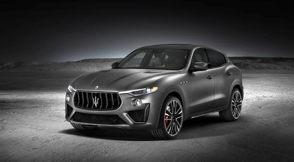 The 2018 Maserati Levante Trofeo, which has a V8 engine.
