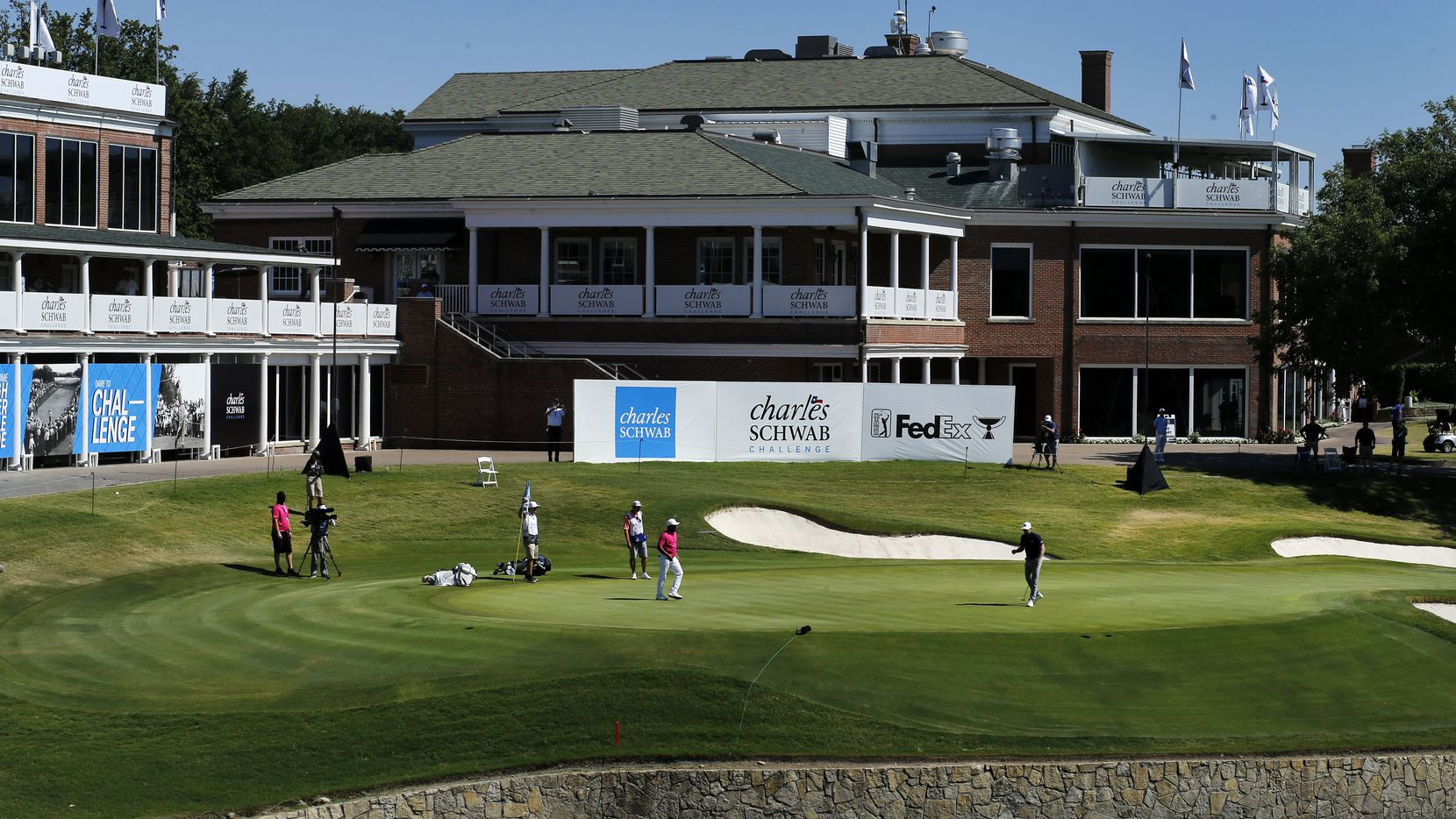 The Charles Schwab Challenge at Colonial Country Club in Fort Worth was the first PGA tour event held without fans since the COVID-19 pandemic began.